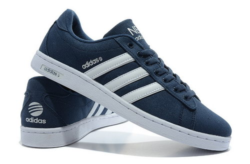 Mens Adidas Neo Skate Dark Blue White China